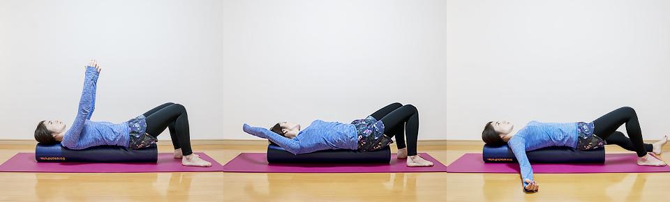 ゆっくり呼吸を行いながら腕や脚を動かすエクササイズ