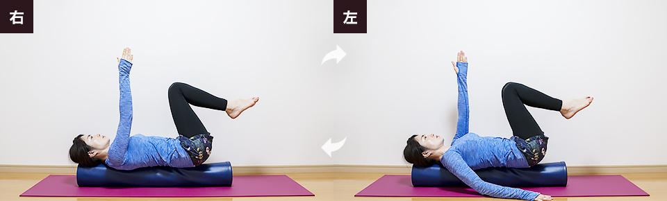 右手・左手を交互に上げ下げしインナーユニットを活性化させる