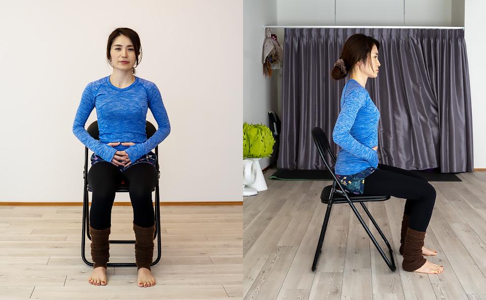 ひめトレエクササイズ「座って腹式呼吸」