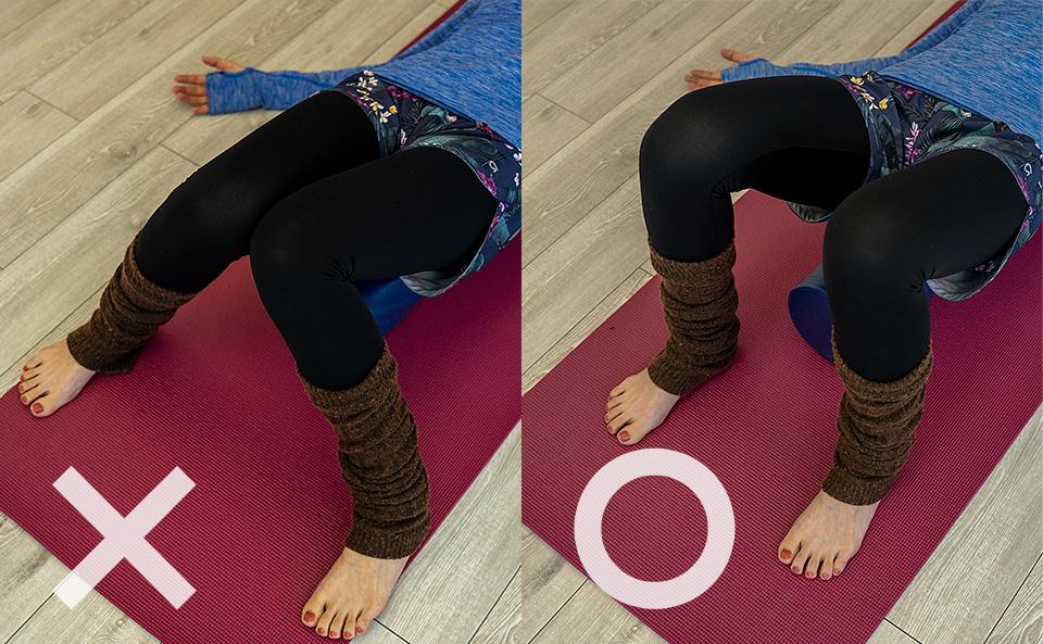 身体が安定する足幅
