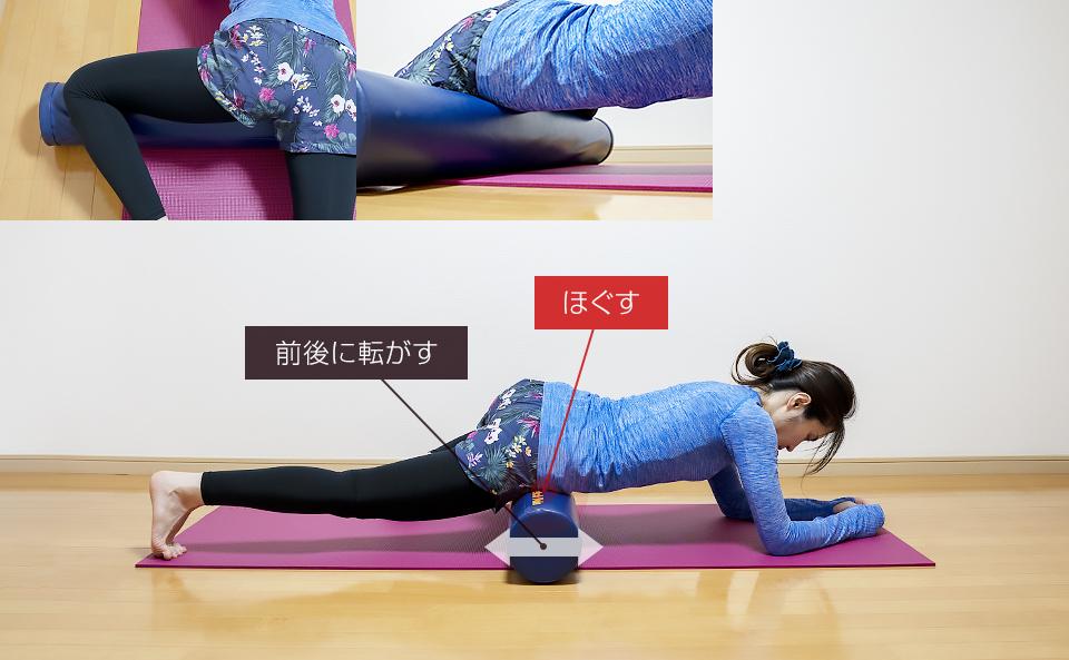 脚のつけ根の筋肉をほぐすエクササイズ