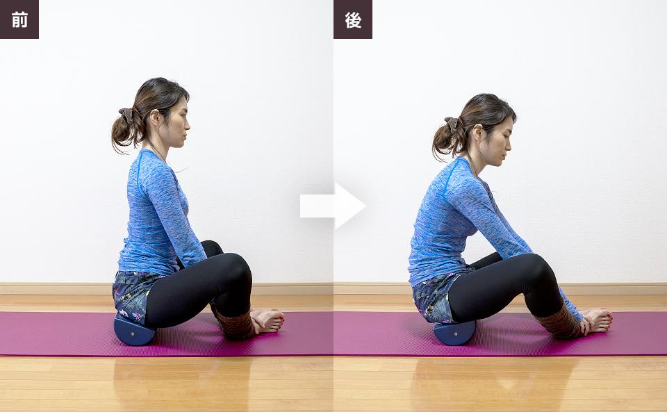 骨盤を使ってゆっくり左右に動かす