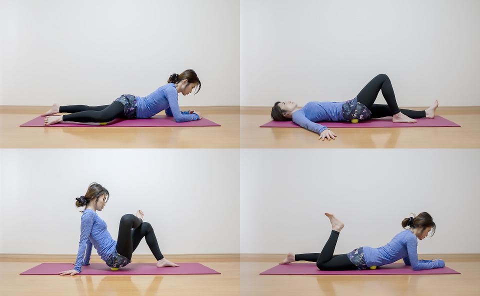 テニスボールで股関節をマッサージする方法を紹介