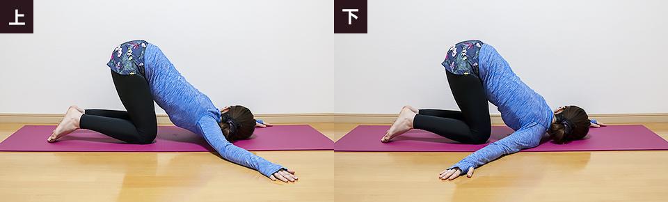 手の位置を「横・上・下」3方向行い最も硬い歩行を優先的に行う