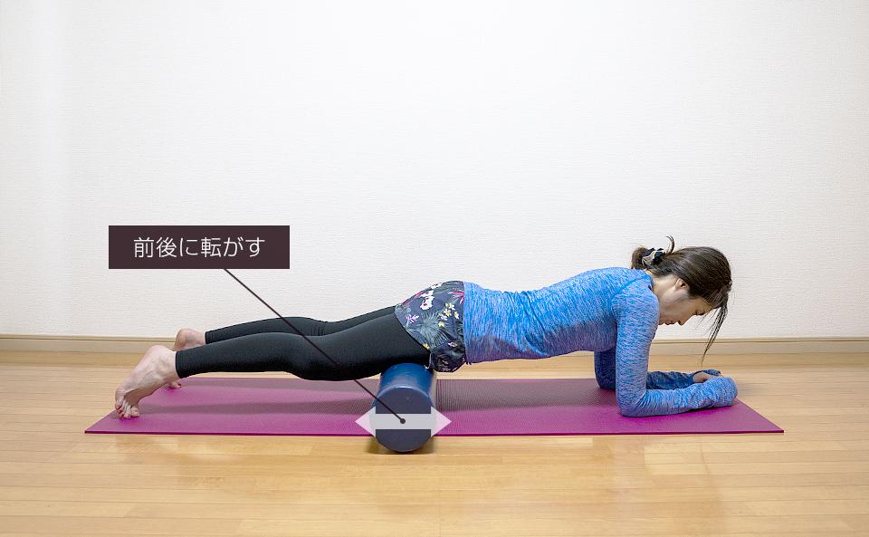 筋肉がほぐれるように前後に動かす