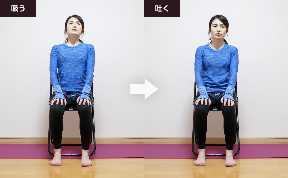 腹横筋のトレーニング「お腹と胸を動かす呼吸法」