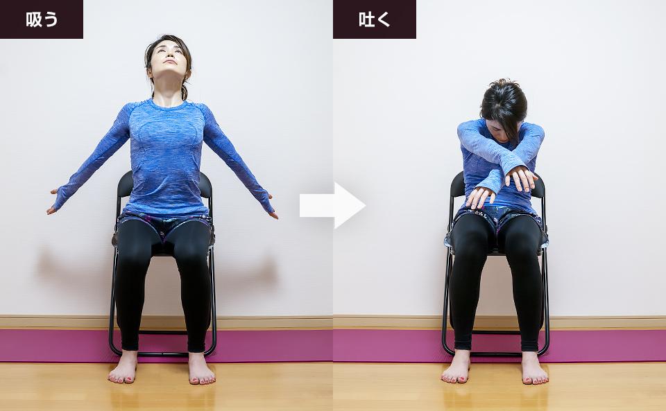 腹横筋のトレーニング「背中とお腹と胸を動かす呼吸法」