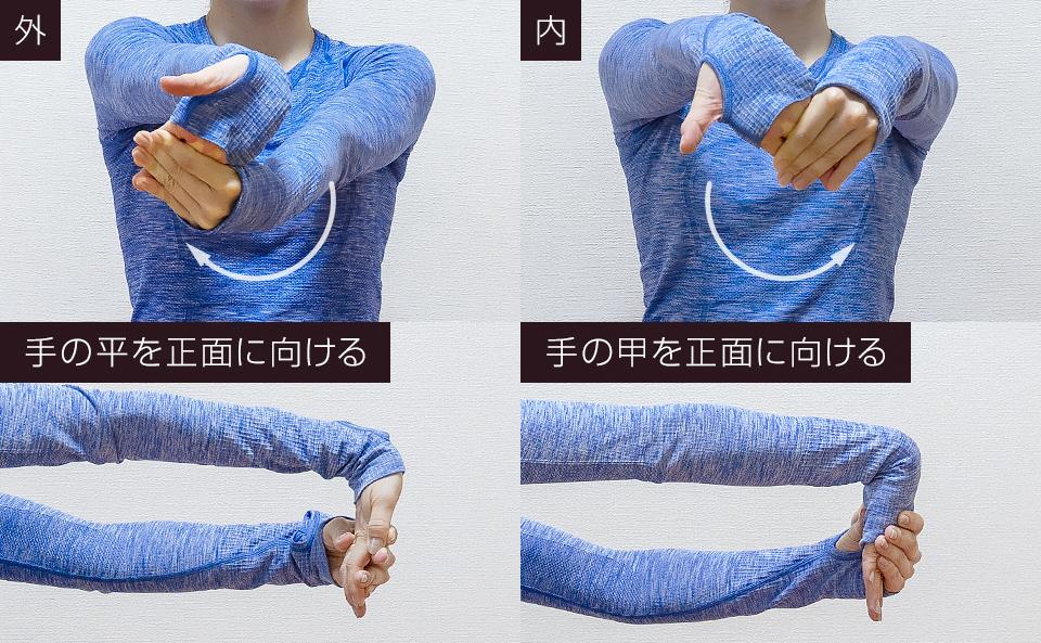 手首の硬い部分を優先的にストレッチする