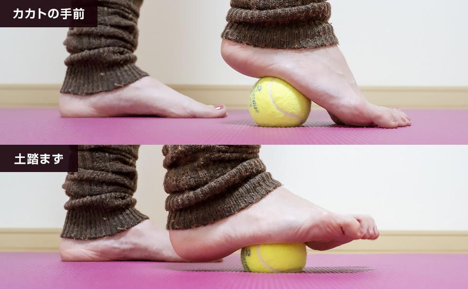 テニスボールで足裏をマッサージする方法