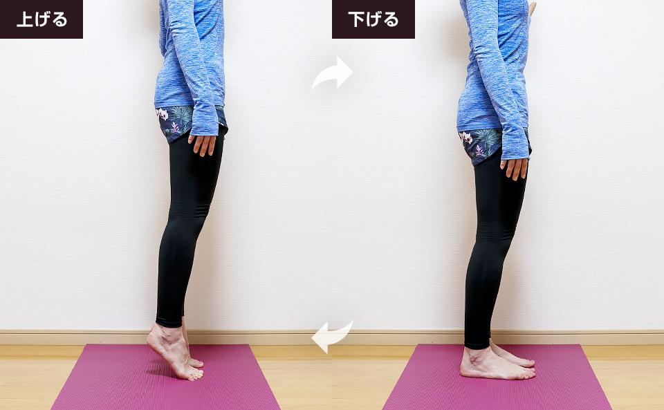 両脚同時に鍛えるスタンディングカーフレイズ