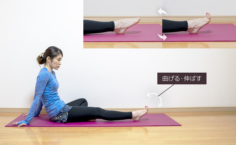 足指を曲げ伸ばしするトレーニング