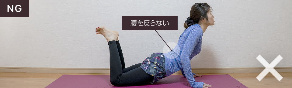 ニーナロウプッシュアップのNG「腰を反らないように注意」