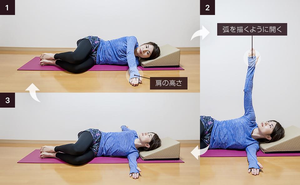 胸の筋トレ前の準備運動「サイドライン・スキャプラローテーション」