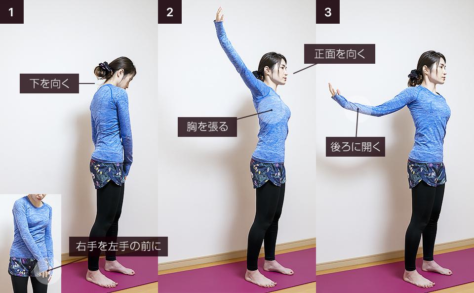二の腕の筋トレ前の準備運動「シングルアーム・エクステンション」