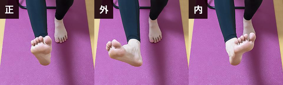 前腿の筋トレ「つま先の向きを変えてチェアレッグエクステンション」