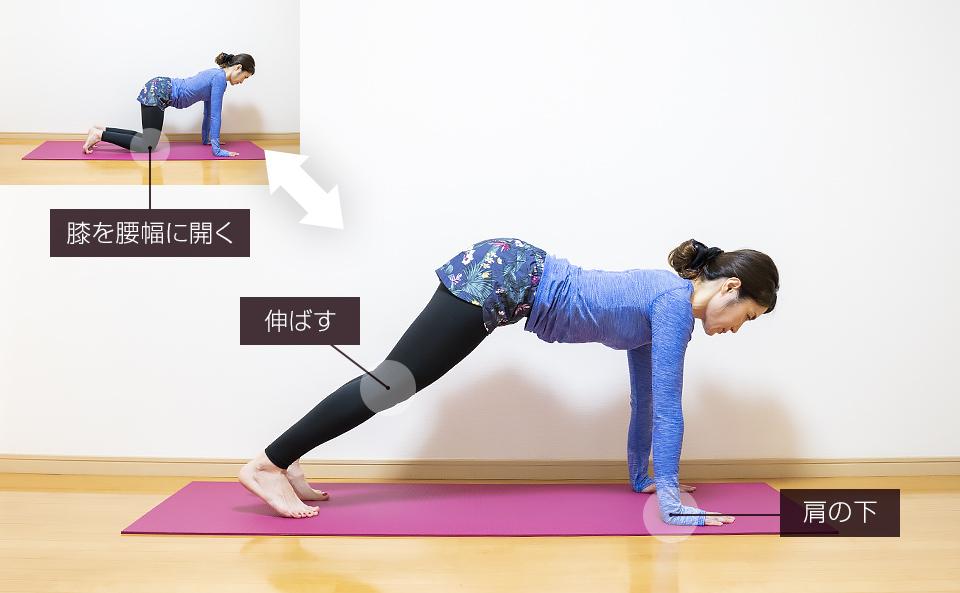 前腿の筋トレ「プランクレッグエクステンション・両脚」