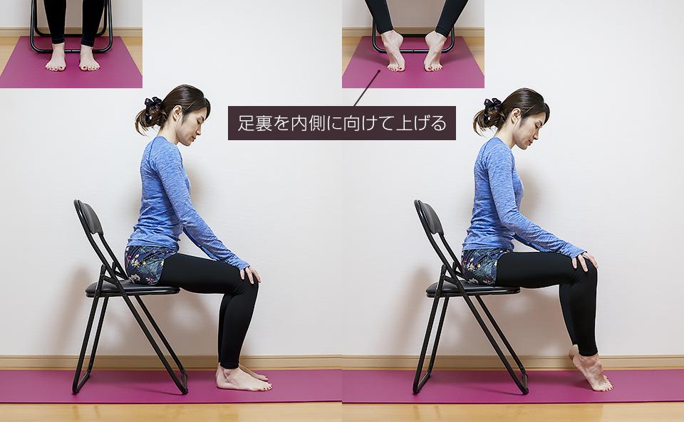 椅子に座って足指・足裏のトレーニング