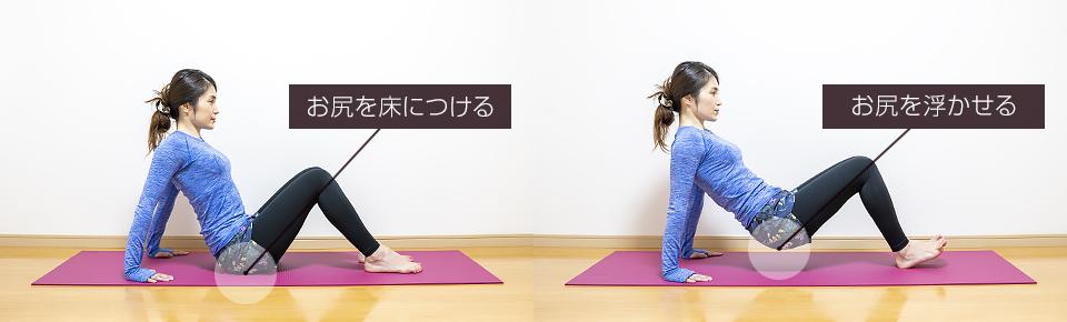上腕三頭筋の筋トレ「リバースプッシュアップ」きつい方は椅子を使わずに床に手をついて行う