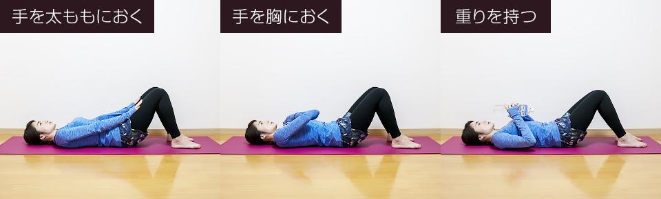 腹直筋の筋トレ「クランチ」負荷の調整の仕方