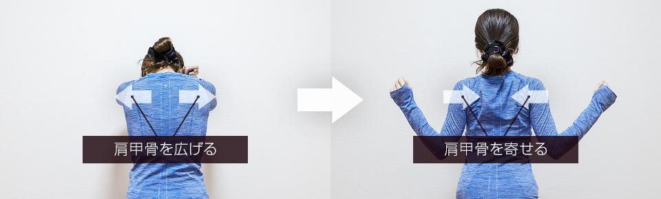 オーバーヘッド・オープン&クローズの肩甲骨の動き