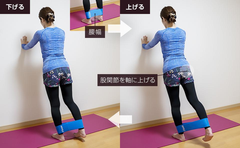 トレーニングチューブでおしり・下半身を鍛える使い方「ヒップエクステンション」