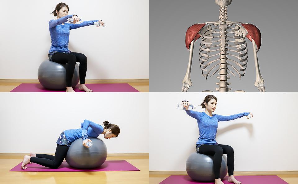 バランスボールで肩の筋トレ方法を5種目紹介
