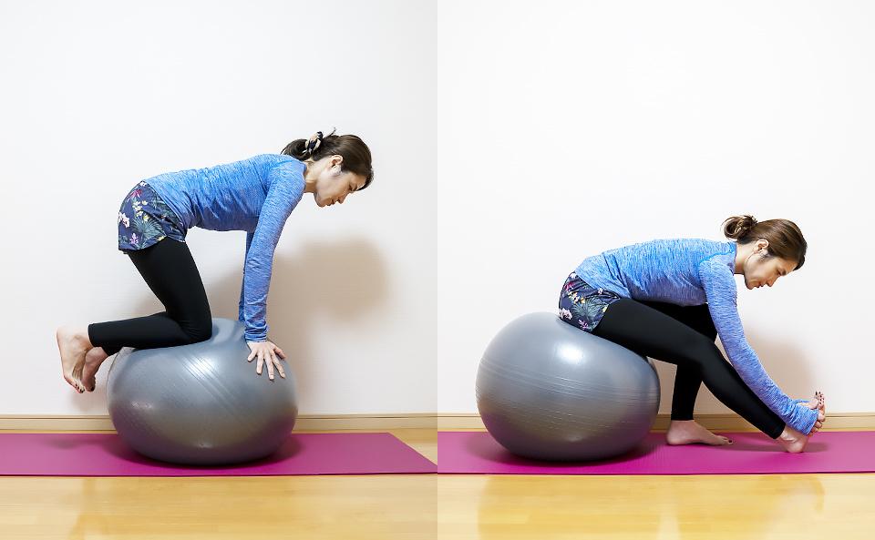 バランスボールで体幹トレーニング・ストレッチを行う方法