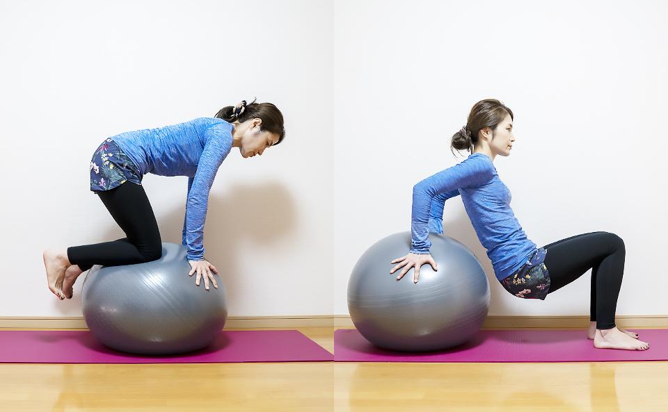 バランスボールで体幹トレーニングや筋トレを行う方法